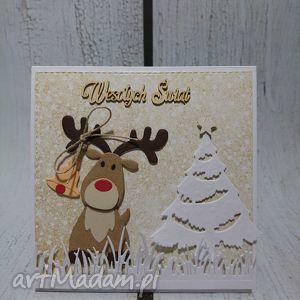 na święta upominek Święta z reniferem:), renifer, choinka, święta, rudolf