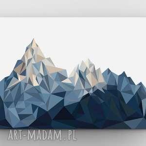 Góry, plakat, grafika, góry, poster, dom, niebieski
