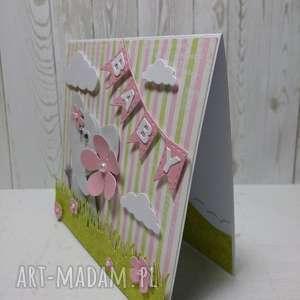 handmade scrapbooking kartki kartka z gratulacjami dla maluszka