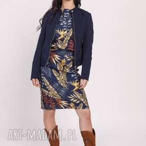 lanti urban fashion dopasowana kurtka na zamek, kr104 granat, kurtka, navy
