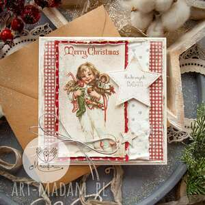 ręcznie wykonane pomysł na prezent magiczna kartka święta bożego narodzenia