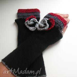 rękawiczki mitenki - rękawiczki, mitenki, akcesoria, dodatki, włóczkowe