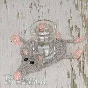 szczurek podkładka pod kieliszek, szczur, szczurek, gryzoń, kieliszek