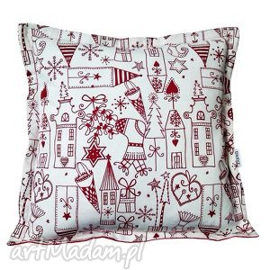 święta prezent Świąteczne Malunki, poduszka, święta, bawełna, choinka, śnieżynka