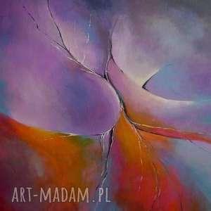 obraz na płótnie - abstrakcja w fioletach 50/40