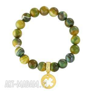 handmade bransoletki agate with clover