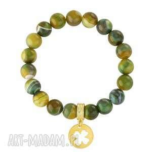 agate with clover - zielone bransoletki