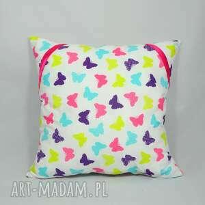 poduszka magic butterflies, poduszka, dekoracyjna, dziecieca, motylki, popielewska