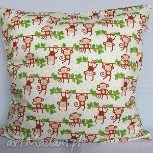 poduszka w małpki,piękna ozdoba prezent, małpa, małpka, poduszka