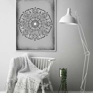 Mandala 50x70cm malgorzata domanska mandala, plakat, obraz