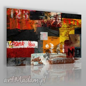 obraz na płótnie - napisy street art 120x80 cm 44501, wlepki, napisy, streetart