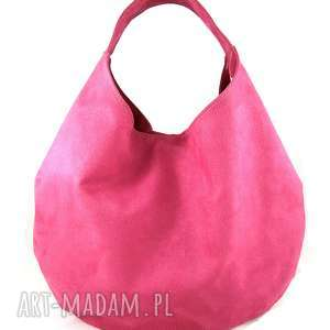 Big pink, hoo, torebka, zamsz, alkantara, bawełna