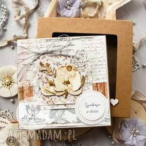 scrapbooking kartki piękna warstwowa kartka na każdą okazję pudełeczko z szybką
