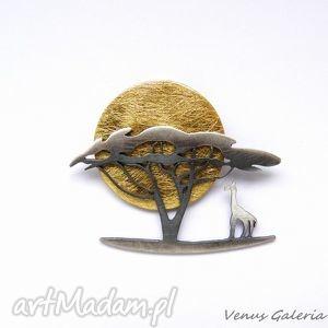 broszka - afryka dzika, biżuteria srebro, broszki