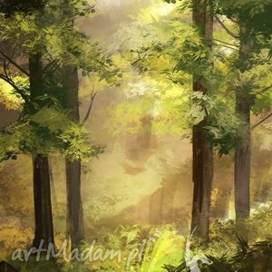 Obraz - Las płótno, obraz, płótnie, las, natura, drzewa, prezent