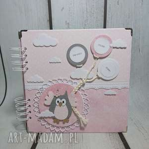 hand made scrapbooking albumy album z sową - okładka i karty