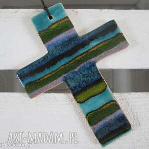 kolorowy krzyż ceramiczny - ,krzyżyk,ceramiczny,prezent,na-komunie,chrzciny,upominek,