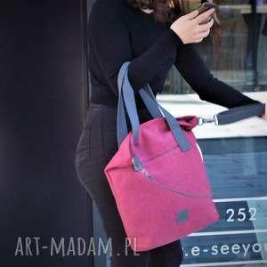 Prezent torba w charakterze worka kolorze fuksji, torba, torebka, torba-na-ramię