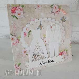 kartka ślubna - kartka, personalizacja, prezent, ślub, pamiątka, scrapbooking