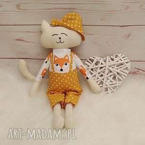 ręcznie robione maskotki kociak tilda przytulanka