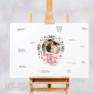 alternatywna księga gości - obraz 50x70 cm do wpisów gości, ślub