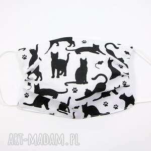 maska bawełniana dwuwarstwowa maseczka ochronna kot i mysz