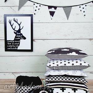 Poszewki na poduszki black&white, poduszka, poszewka, poduszki, czarny
