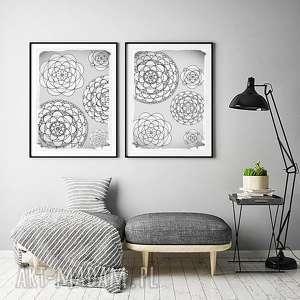 Zestaw 2 prac A3, plakat, grafika, kwiaty, plakaty