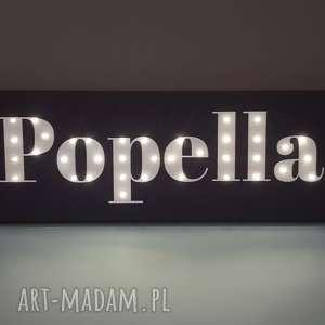 Prezent NAPIS LED imię personalizowany świecący obraz dekoracja lampa prezent na