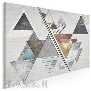 obraz na płótnie - abstrakcja trójkąty 120x80 cm 28201