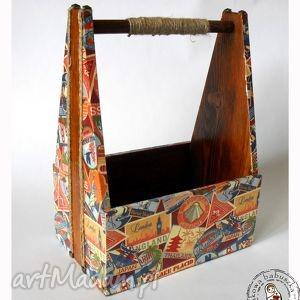 ręcznie zrobione pudełka skrzynka na piwo dla podróżnika