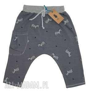 portki ZEBRY, baggy, pants, zebry, bawełna, dziecko, rybaczki