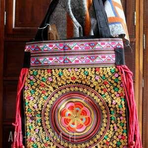 Prezent torba damska orientalna haftowana w stylu etnicznym , etno, orient, folk