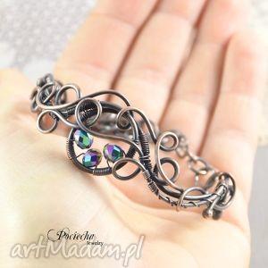 hand-made bransoletki spark - bransoletka z pięknymi szklanymi kryształkami