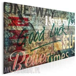 obraz na płótnie - napisy motywacyjne 120x80 cm 45401, napisy, litery, motywacja