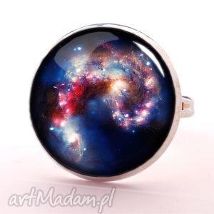 Nebula - Pierścionek regulowany - ,pierścionek,regulowany,nebula,kosmos,grafiką,szklany,