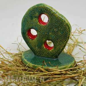 ceramika figurka kaktus-opuncja ręcznie robiona handmade, ceramiki, kaktus