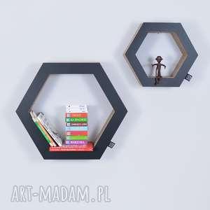 półka na książki zabawki hexagon ecoono czarny - półka