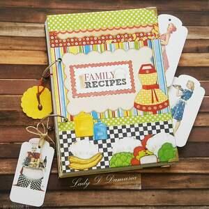 Notes przepiśnik family recipes scrapbooking notesy damusia