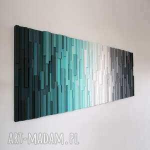 mozaika 3d, obraz drewniany at na zamówienie, wallart, mozaika, loft, modern