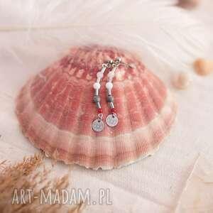 kolczyki zodiac rak / cancer z koralem jaspisem jadeitem i kamieniem