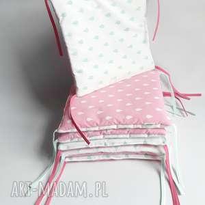 Modułowy dwustronny ochraniacz do łóżeczka, ochraniacz, łóżeczko, pościel, poduszki