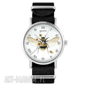 zegarek - bee natural czarny, nylonowy, zegarek, nylonowy pasek, typ militarny