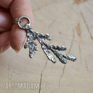 handmade naszyjniki gałązka cedru - naszyjnik z prawdziwą