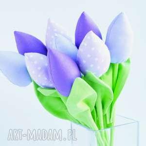 kuferek-malucha tulipany bawełniane 9 szt - dekoracja, bukiet, kwiaty