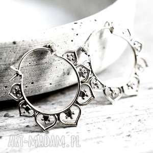 925 srebrne kolczyki karma - delikatne, spirale, lekkie, srebro lato