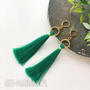 Kolczyki boho - green ilovehandmade modne kolczyki, boho
