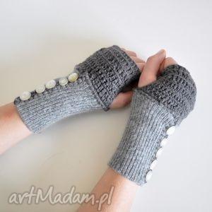 rękawiczki, mitenki, ocieplacze - rękawiczki, mitenki, ocieplacze, szare