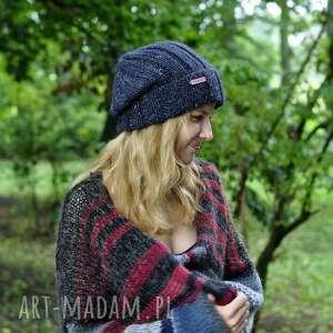 czapki lekka czapka, na drutach, damska prezent, dodatki
