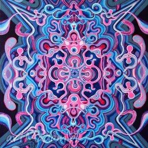 podwójna symetria kosmiczna 1, braz, abstrakcja, kosmos, symetria, niebieski